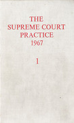 Cover of The Supreme Court Practice 1967 (The White Book )