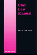 Cover of Club Law Manual