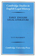 Cover of Early English Legal Literature