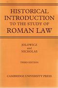 Cover of Historical Introduction to the Study of Roman Law