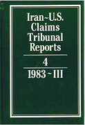 Cover of Iran-U.S. Claims Tribunal Reports: Volume 4