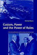 Cover of Custom, Power and the Power of Rules