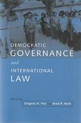 Cover of Democratic Governance and International Law