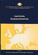 Cover of Good Faith in European Contract Law