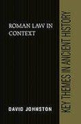 Cover of Roman Law in Context