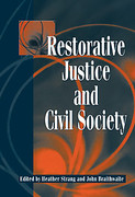 Cover of Restorative Justice and Civil Society