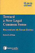 Cover of Law in Context: Toward a New Legal Common Sense: Law, Globalization, and Emancipation