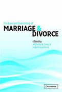 Cover of The Law and Economics of Marriage and Divorce
