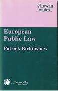 Cover of Law in Context: European Public Law