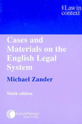 Cover of Law in Context: Cases and Materials on the English Legal System