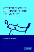 Cover of Restitutionary Rights to Share in Damages: Carers' Claims in Common Law