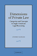 Cover of Dimensions of Private Law: Categories and Concepts in Anglo-American Legal Reasoning