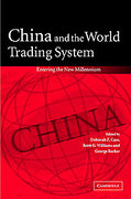 Cover of China and the World Trading System