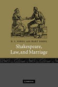 Cover of Shakespeare, Law and Marriage