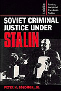 Cover of Soviet Criminal Justice Under Stalin