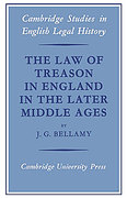 Cover of The Law of Treason in England in the Later Middle Ages