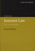 Cover of Internet Law: Text and Materials