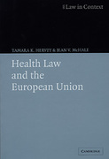 Cover of Health Law and the European Union