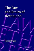 Cover of The Law and Ethics of Restitution