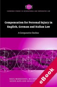 Cover of Compensation for Personal Injury in English, German, and Italian Law (eBook)