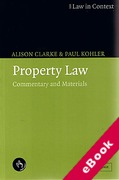 Cover of Law in Context: Property Law (eBook)