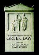 Cover of The Cambridge Companion to Ancient Greek Law