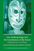 Cover of Law, Anthropology and the Constitution of the Social: Making Persons and Things