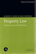 Cover of Law in Context: Property Law