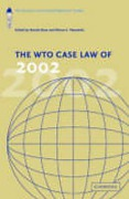 Cover of The WTO Case Law of 2002