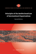 Cover of Principles of the Institutional Law of International Organizations
