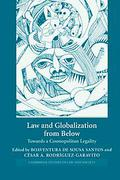 Cover of Law and Globalization from Below: Towards a Cosmopolitan Legality