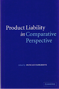 Cover of Product Liability in Comparative Perspective