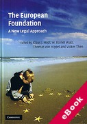 Cover of The European Foundation: A New Legal Approach (eBook)