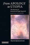 Cover of From Apology to Utopia: The Structure of International Legal Argument