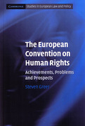 Cover of The European Convention on Human Rights: Achievements, Problems and Prospects