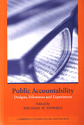 Cover of Public Accountability:  Designs, Dilemmas and Experiences