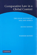 Cover of Comparative Law in a Global Context: The legal Systems of Asia and Africa 2nd ed
