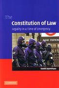 Cover of The Constitution of Law: Legality in a Time of Emergency