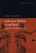 Cover of Law as a Means to an End