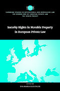 Cover of Security Rights in Movable Property in European Private Law