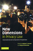 Cover of New Dimensions in Privacy Law: International and Comparative Perspectives