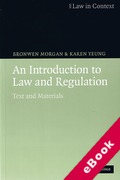 Cover of Law in Context: An Introduction to Law and Regulation: Text and Materials (eBook)