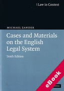 Cover of Law in Context: Cases and Materials on the English Legal System (eBook)