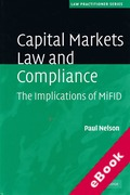 Cover of Capital Markets Law and Compliance: The Implications of MiFID (eBook)