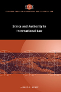 Cover of Ethics and Authority in International Law