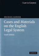Cover of Cases and Materials on the English Legal System