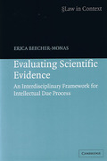 Cover of Law in Context: Evaluating Scientific Evidence - An Interdisciplinary Framework for Intellectual Due Process