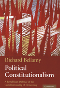 Cover of Political Constitutionalism: A Republican Defence of the Constitutionality of Democracy