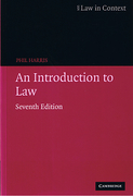 Cover of Law in Context: An Introduction to Law