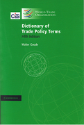 Cover of Dictionary of Trade Policy Terms